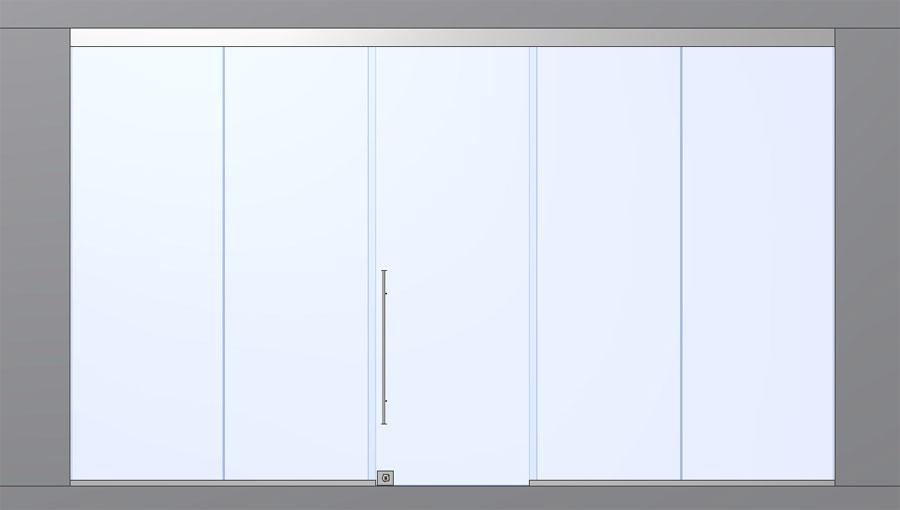 Стеклянные автоматические раздвижные двери для магазина